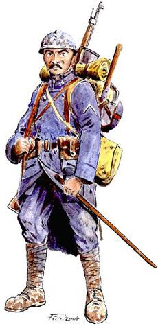 Les fran ais verdun 1916 - Dessin de poilu ...